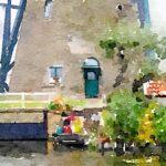 windmill in kinderdijk holland